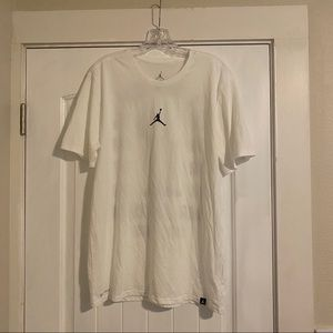Nike Jordan T-shirt (L-White) with Jumpman logo